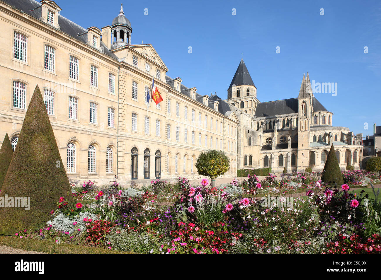 france normandie calvados caen abbaye aux hommes hotel de ville stock photo royalty free. Black Bedroom Furniture Sets. Home Design Ideas