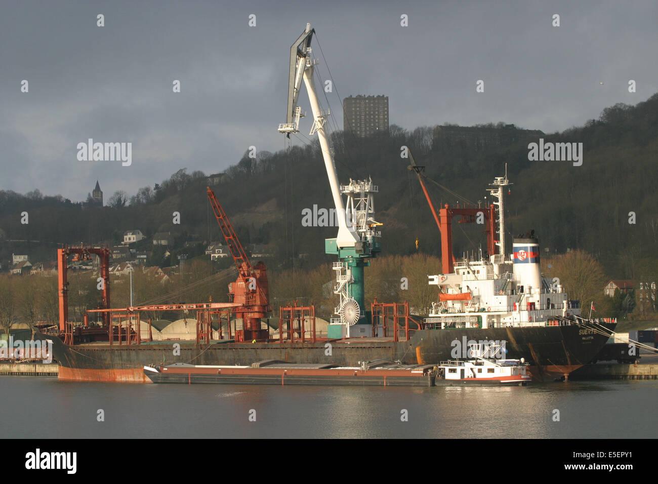France normandie seine maritime vallee de la seine grand port de stock photo royalty free - Grand port maritime de rouen ...