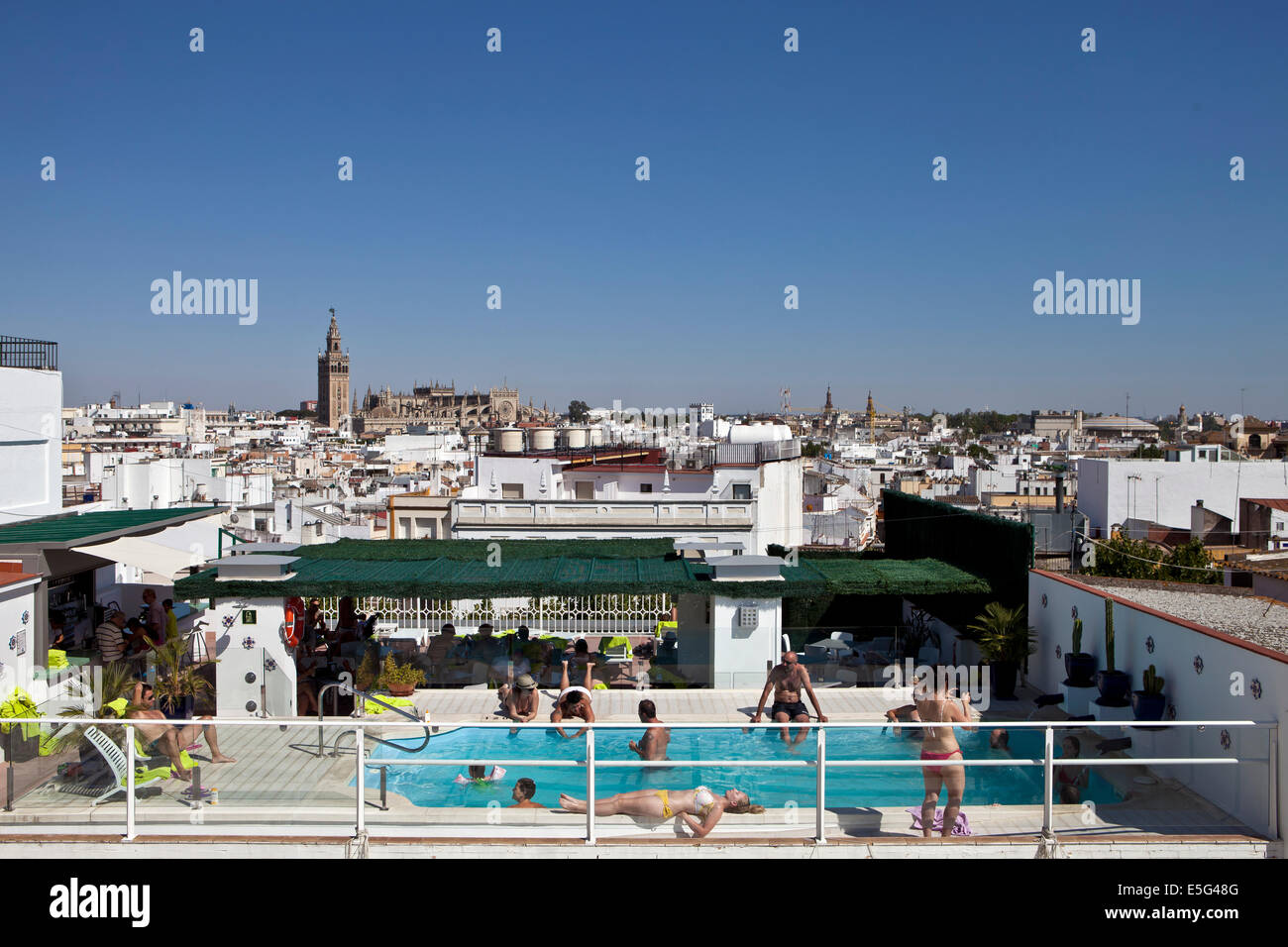 Hotel Rooftop Swimming Pool Overlooking Seville Spain Stock Photo Royalty Free Image 72269360