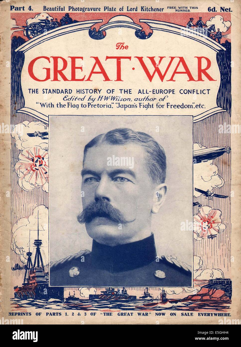 the great war front page magazine lord kitchener stock photo  -  the great war front page magazine lord kitchener