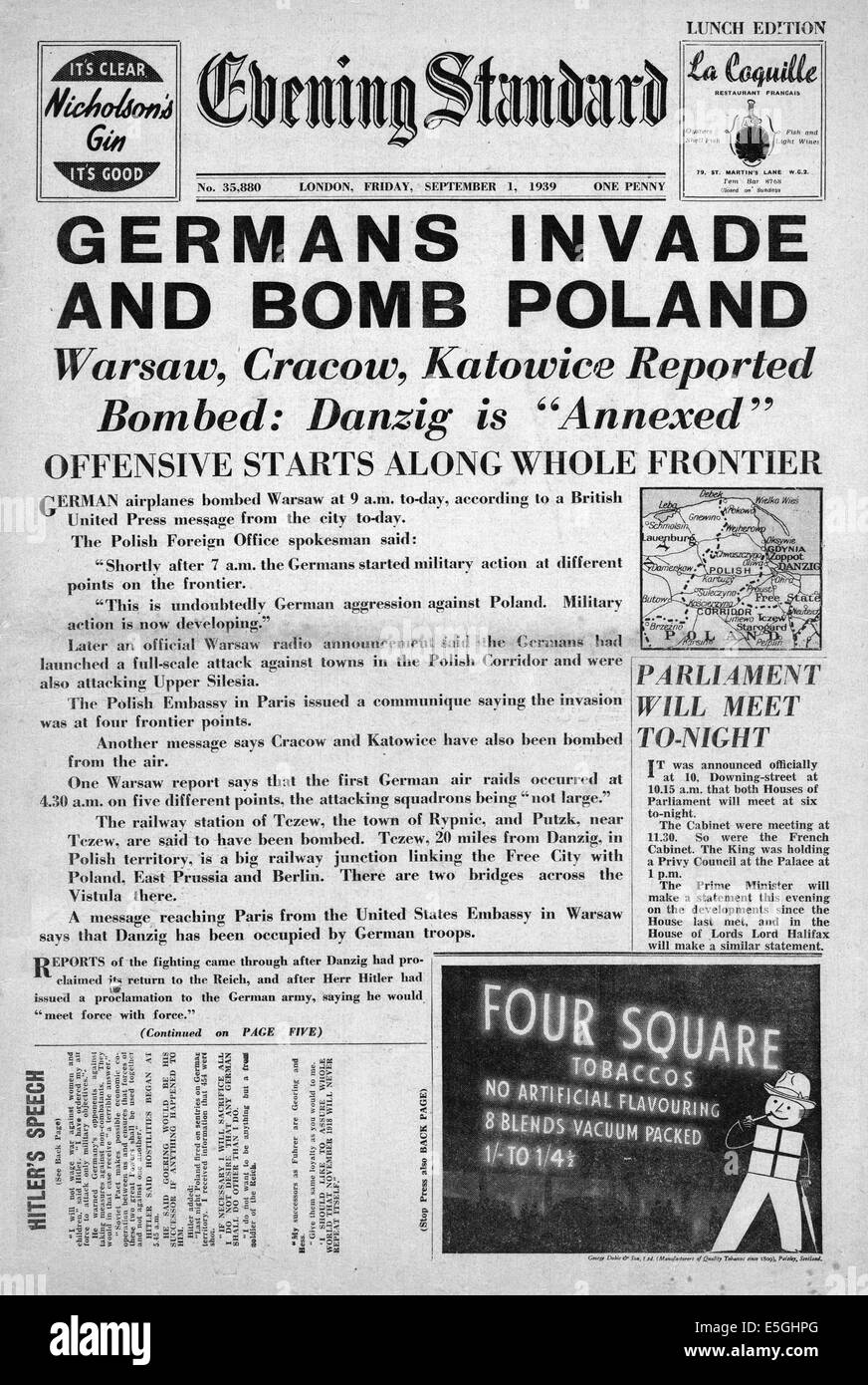 account of germanys invasion of poland Germany's invasion of poland poland is a fairly brief account of poland's decline in history despite advances germany attacked poland on the first of.