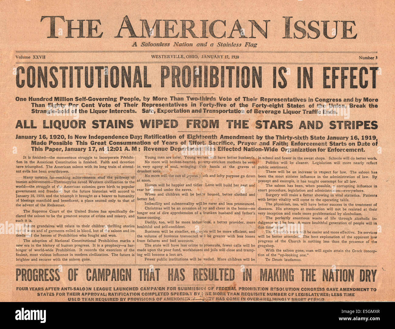 prohibition in the united states and