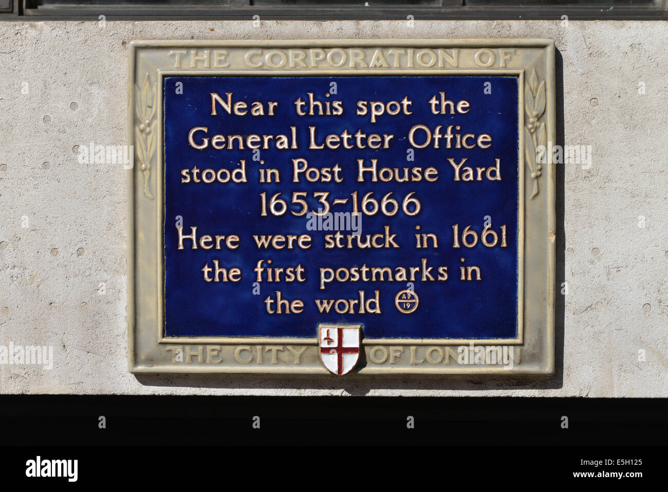 General Letter Office Plaque London Near This Spot The General Letter Office  Stood In Post House Yard, 1653   1666