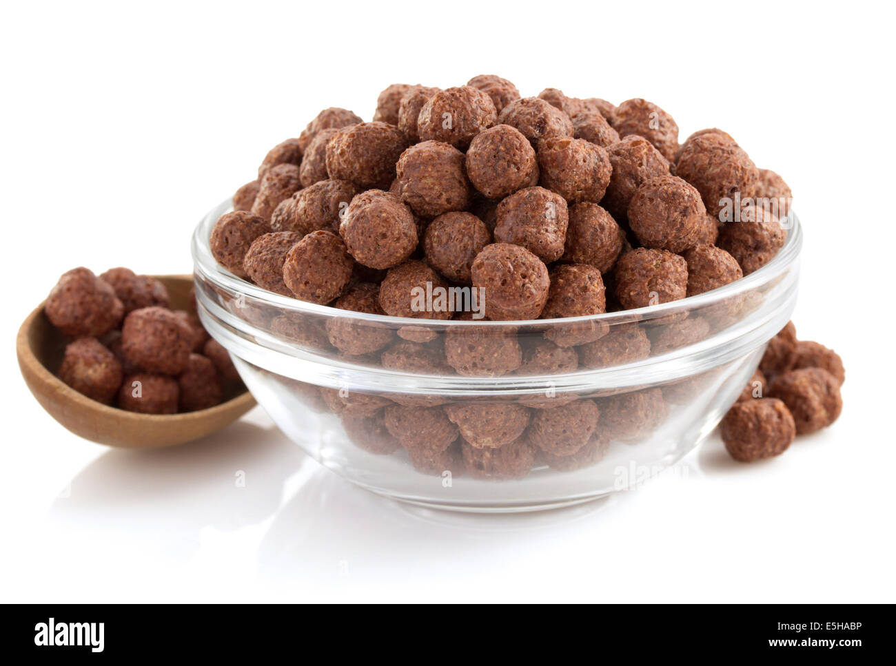 cereal chocolate balls in bowl on white background Stock Photo ...