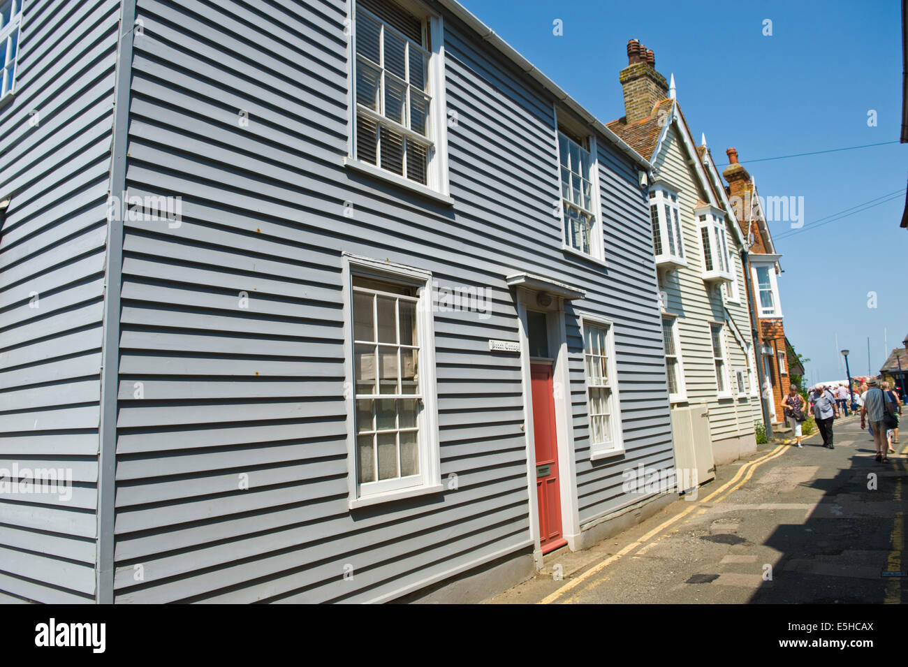 Typical Clapboard Houses At Whitstable Kent England Uk