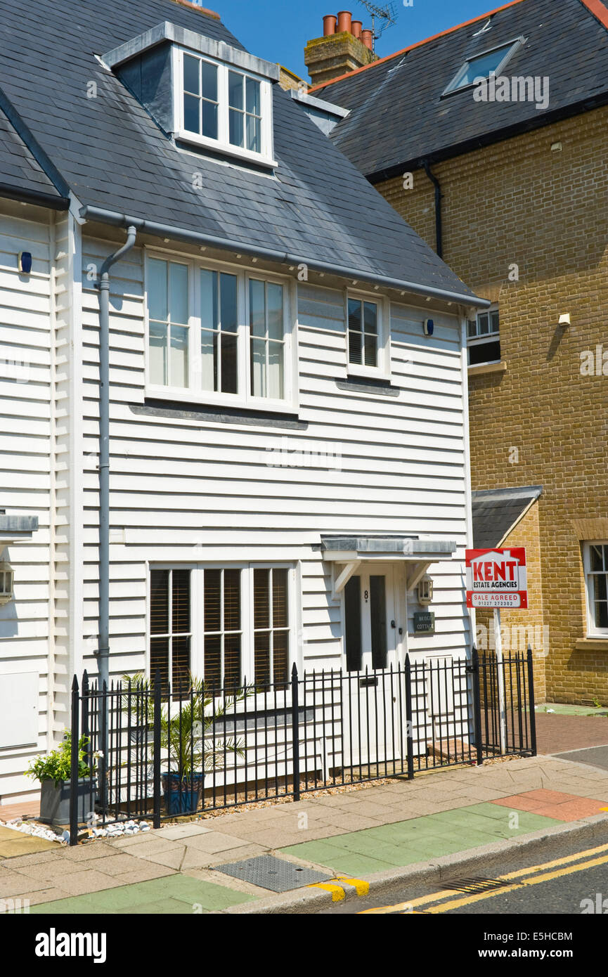 Modern clapboard house for sale in Whitstable Kent England UK Stock
