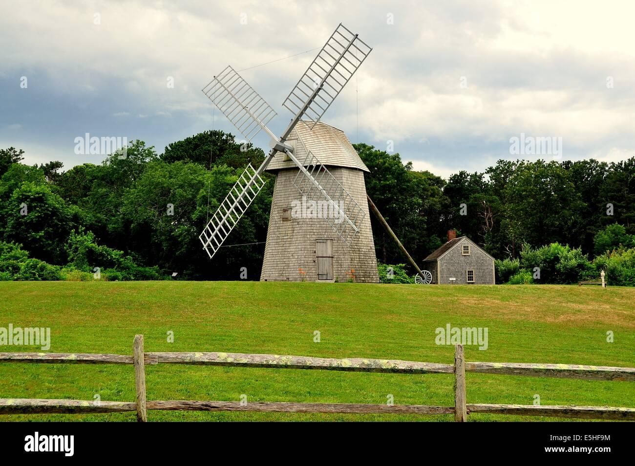 Windmill Cape Cod Part - 23: BREWSTER (CAPE COD), MASSACHUSETTS: The 18th Century Higgins Farm Windmill  And C. 1795 Harris-Black House