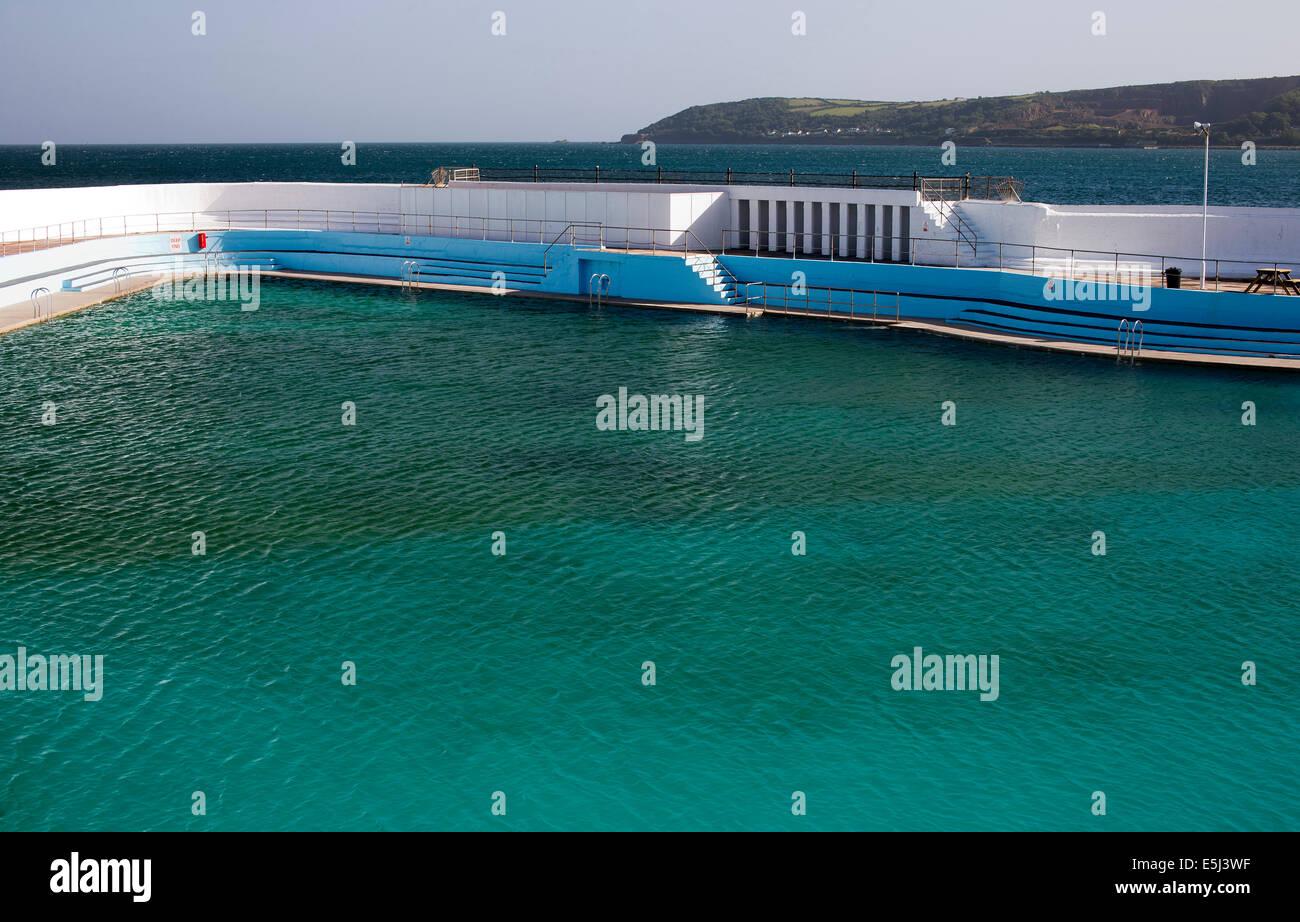 Jubilee Pool Penzance Cornwall Uk An Art Deco Lido To Celebrate Stock Photo Royalty Free