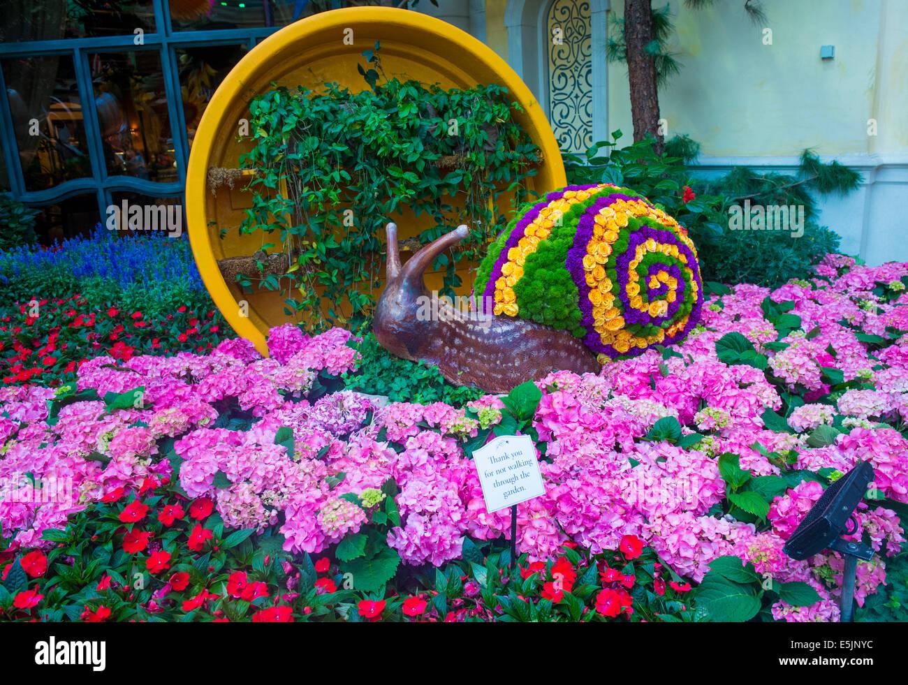 Summer Season In Bellagio Hotel Conservatory Botanical