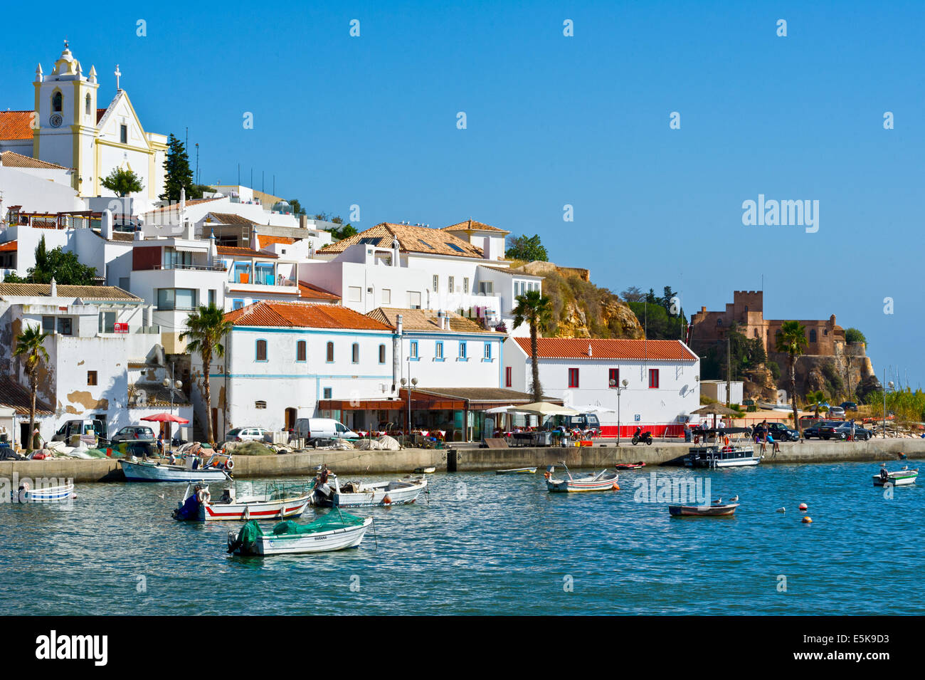 White Sand Beach With Boats Ferragudo fishing vill...