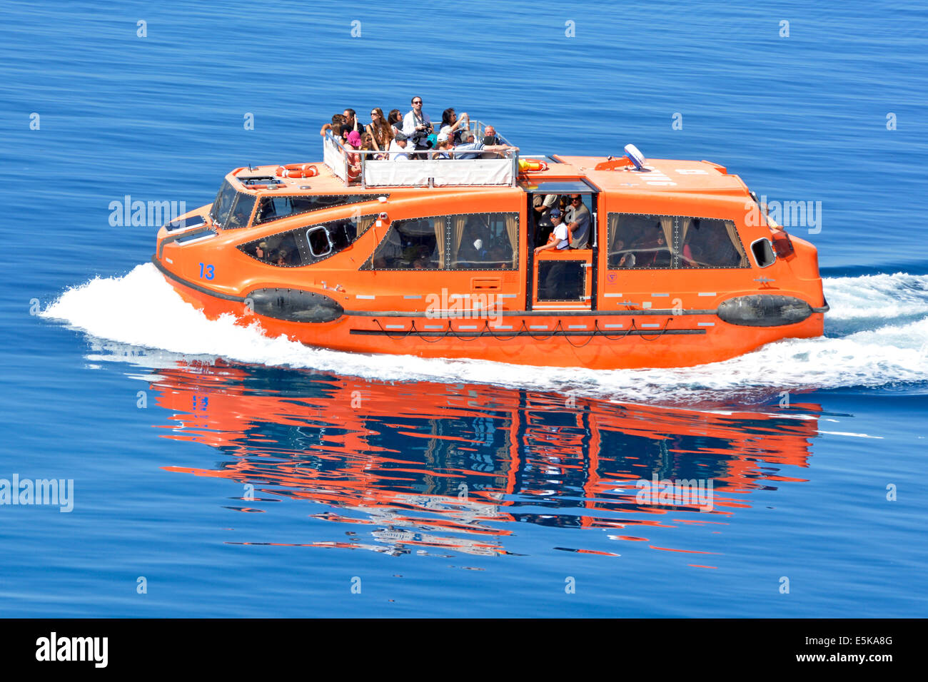 Lifeboat Tender Cruise Ship Passengers Ferry Between Off