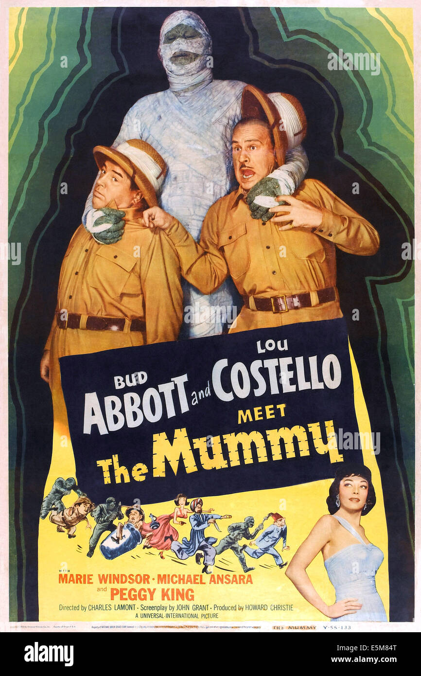 abbott and costello meet the mummy cast images