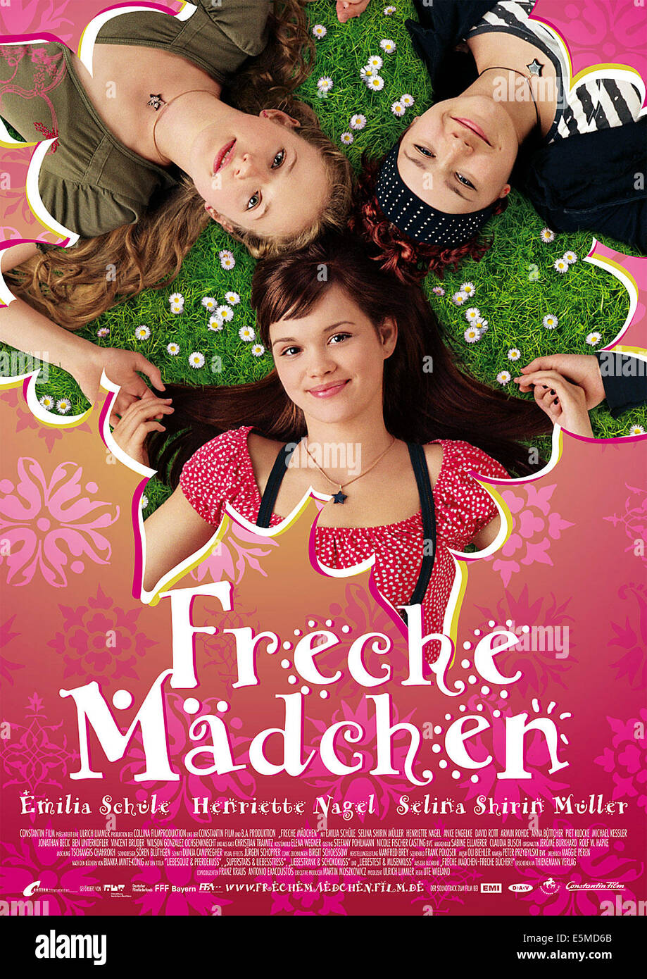 FRECHE MADCHEN, clockwise from top left: Henriette Nagel, Selina ...