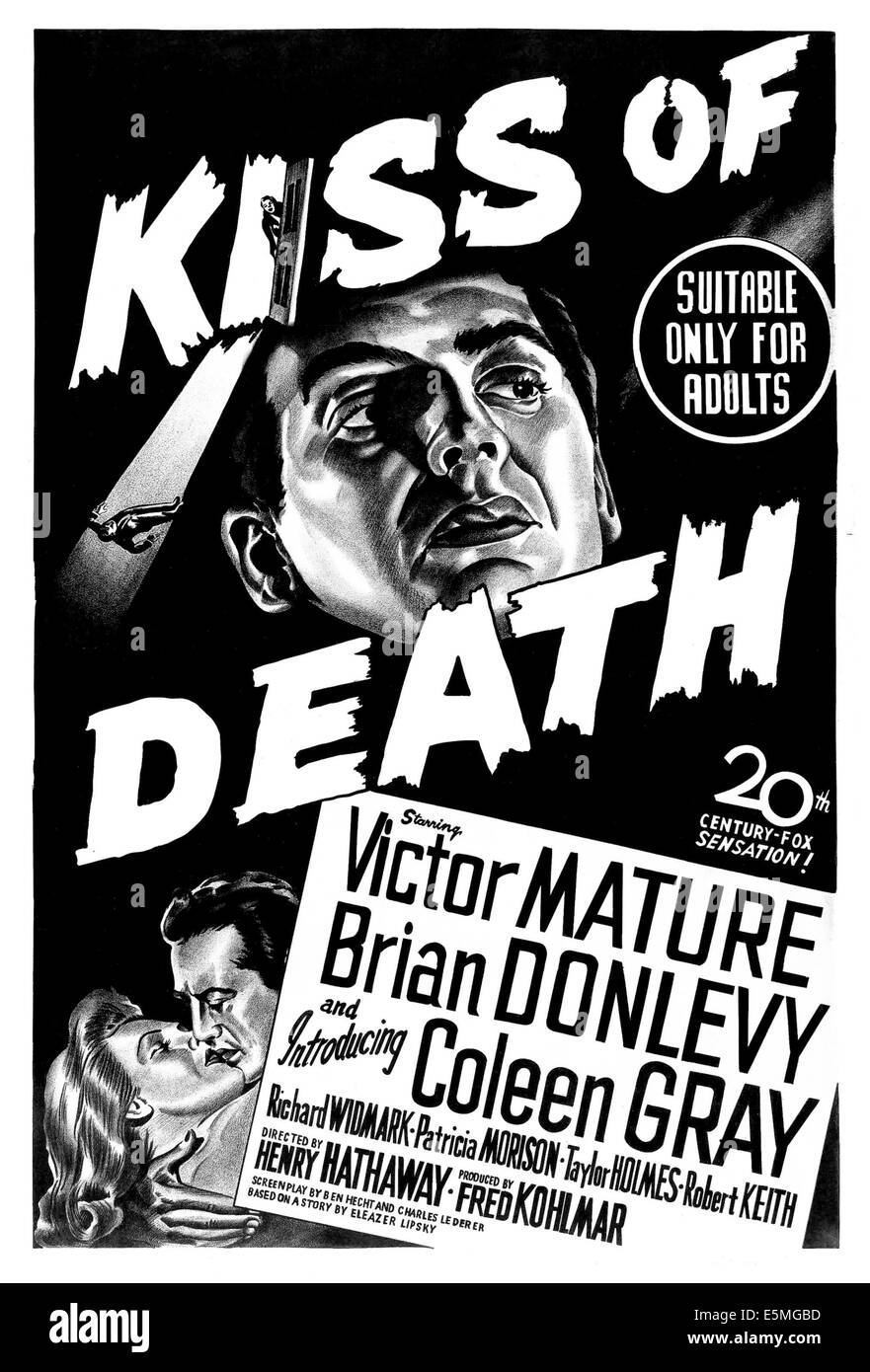 Las ultimas peliculas que has visto - Página 38 Kiss-of-death-coleen-gray-victor-mature-australian-poster-art-1947-E5MGBD