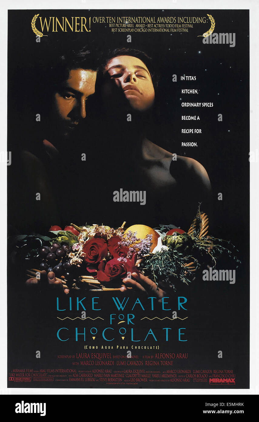 LUMI CAVAZOS LIKE WATER FOR CHOCOLATE (1992 Stock Photo, Royalty ...