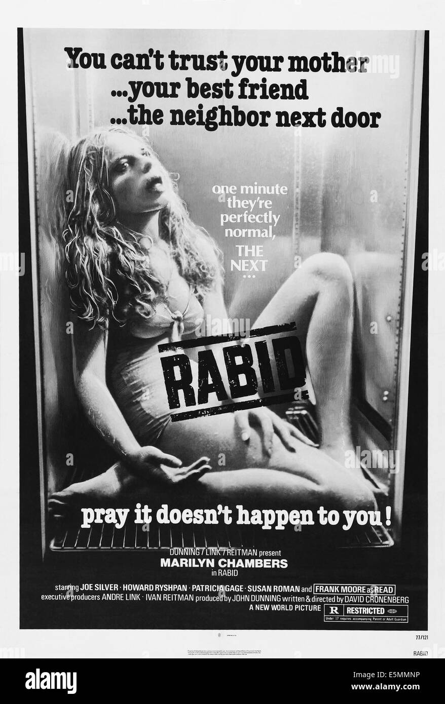 chambers black and white stock photos images alamy rabid us poster marilyn chambers 1977 stock image