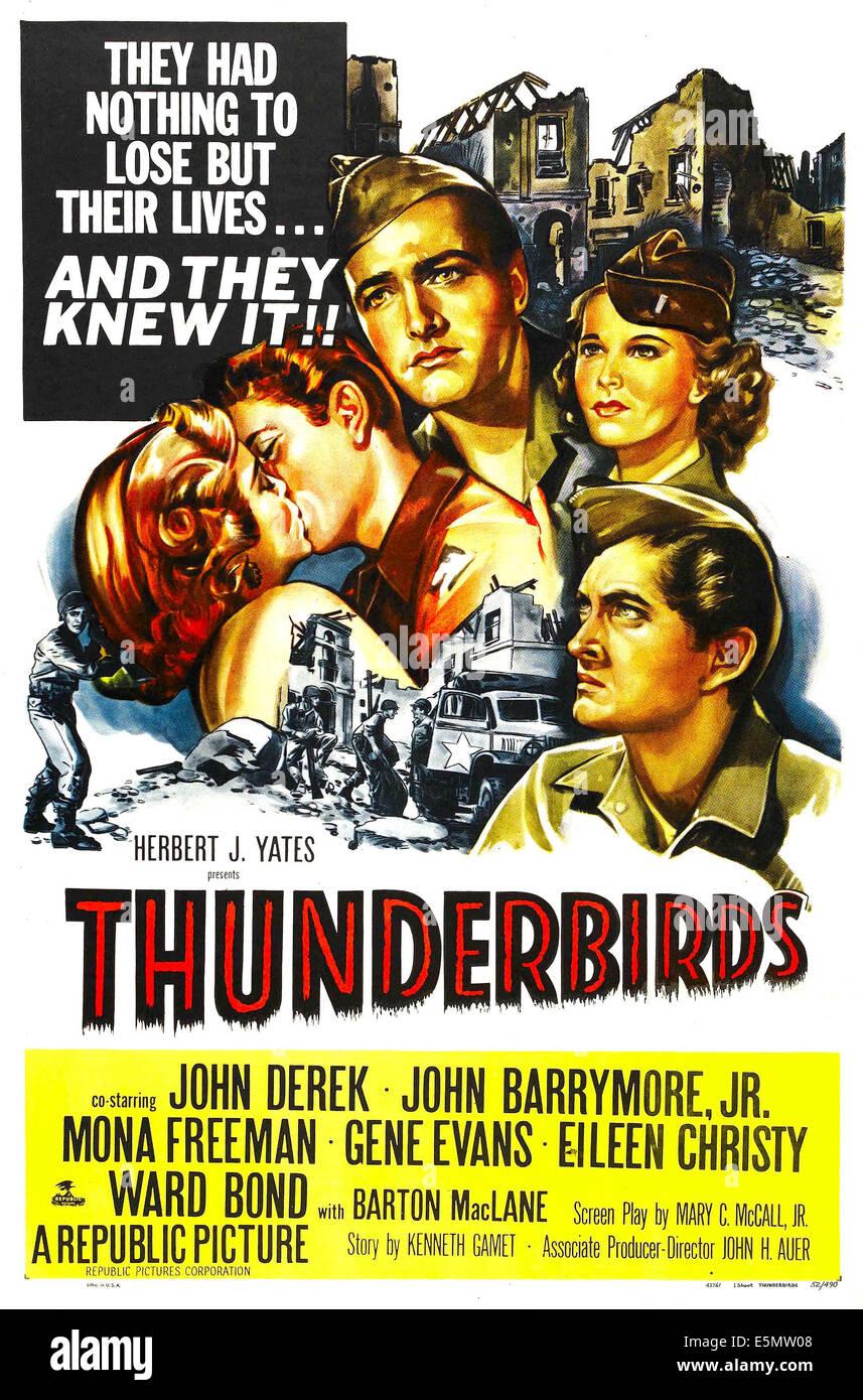 THUNDERBIRDS l r Mona Freeman John Drew Barrymore John Derek
