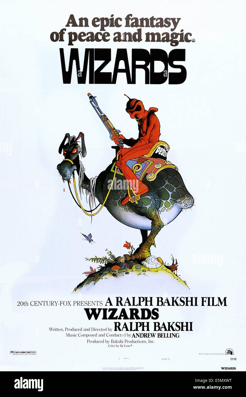 Poster design 20th century - Wizards Us Poster Art 1977 Tm Copyright 20th Century Fox Film Corp All Rights Reserved Courtesy Everett Collection