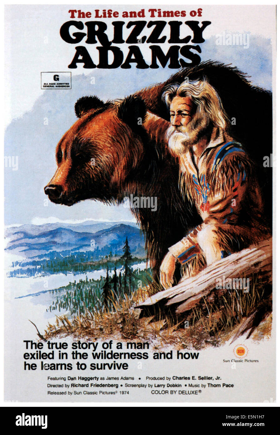 The Life Of Adventure: THE LIFE AND TIMES OF GRIZZLY ADAMS, Dan Haggerty, 1974
