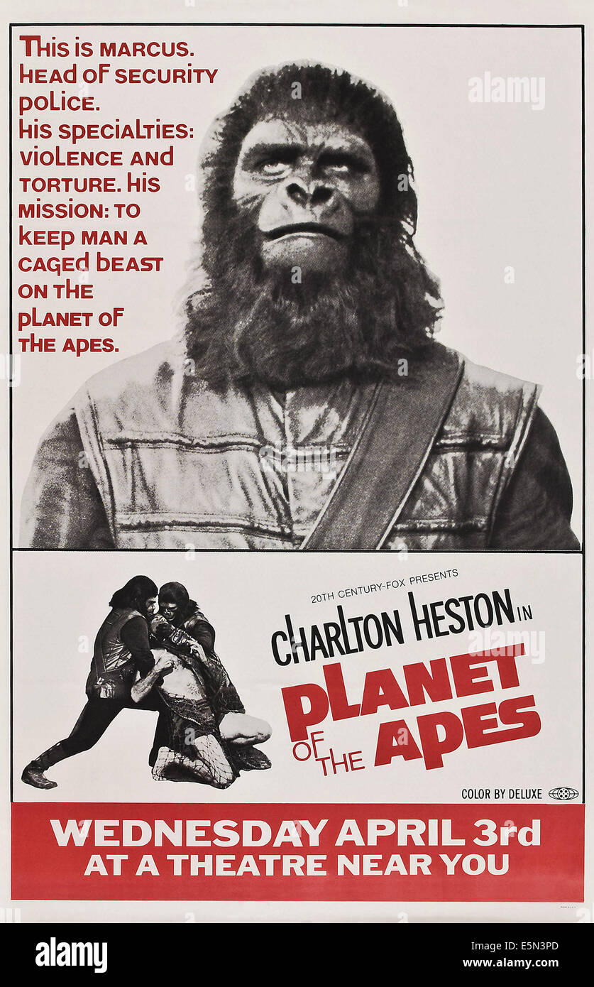planet of the apes poster art 1968 tm and copyright