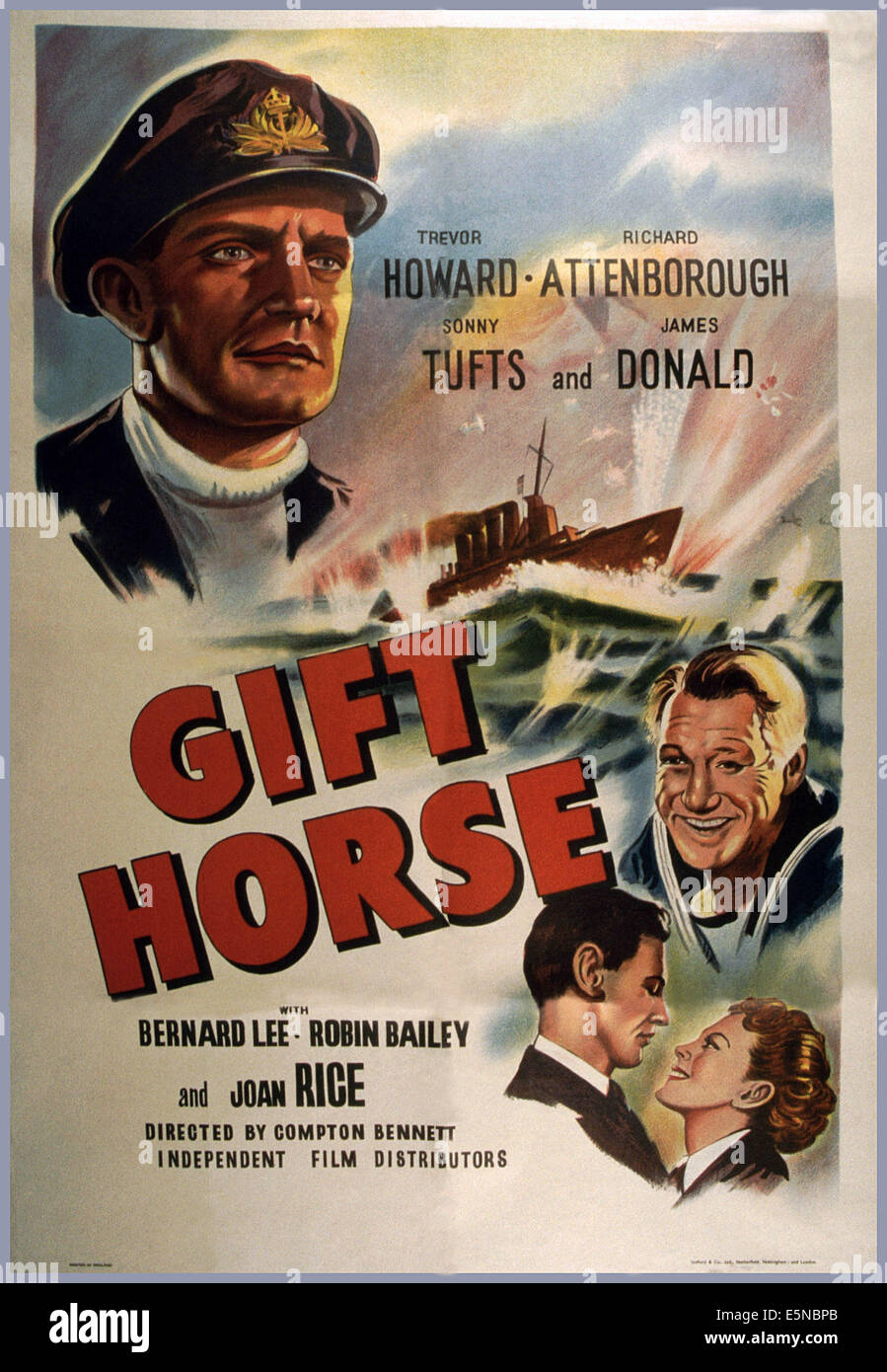 The gift horse 1952 stock photos the gift horse 1952 stock gift horse aka glory at sea from top trevor howard negle Image collections