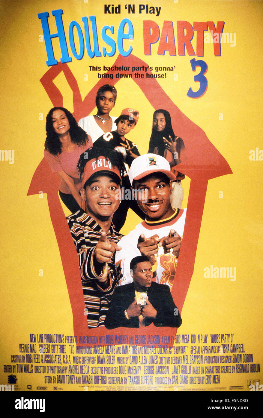 HOUSE PARTY 3, Bernie Mac (bottom), center from left ...