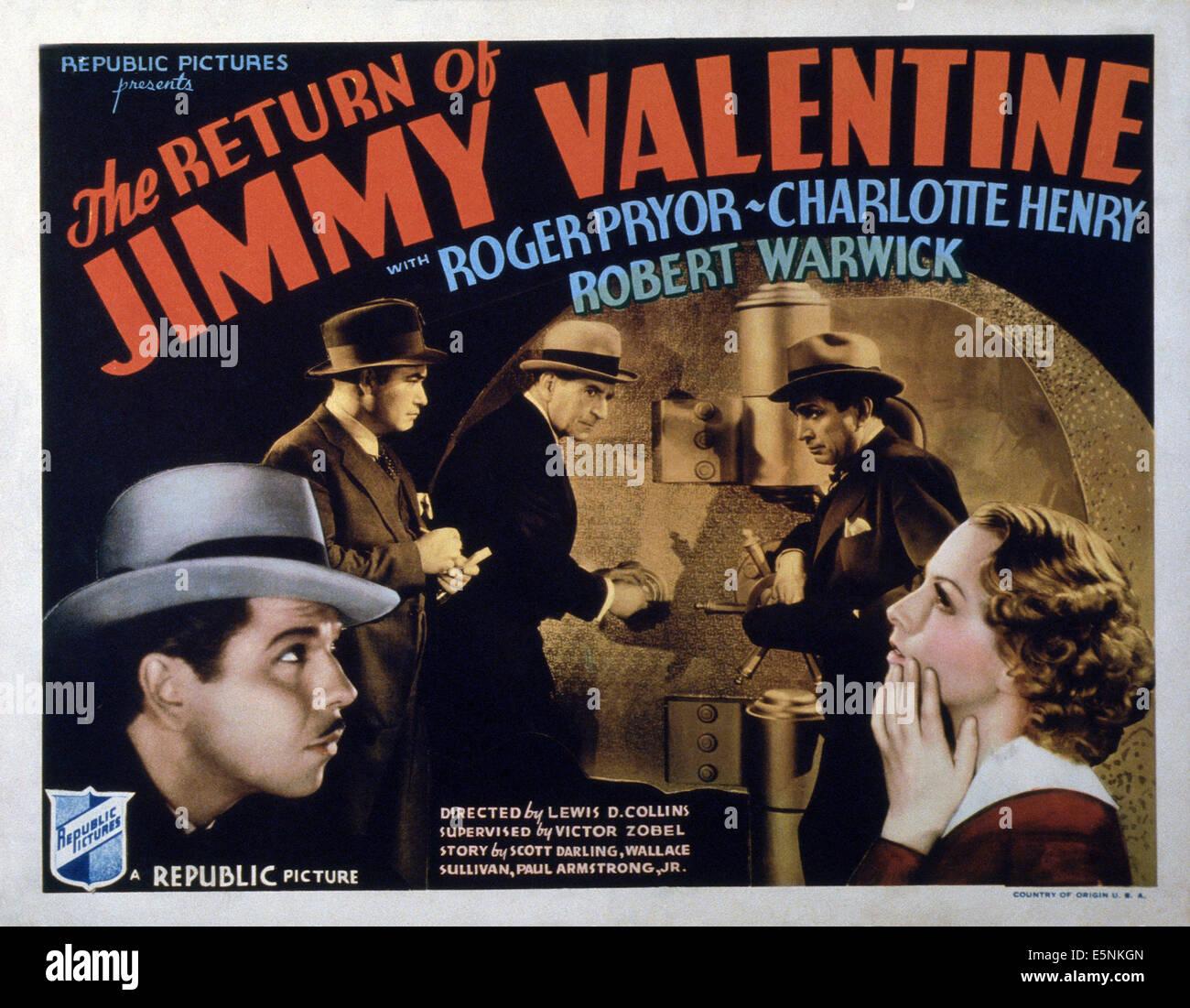 Außergewöhnlich THE RETURN OF JIMMY VALENTINE, US Lobbycard, Robert Pryor, Wade Boteler,  Robert Warwick, J. Carrol Naish, Charlotte Henry, 1936