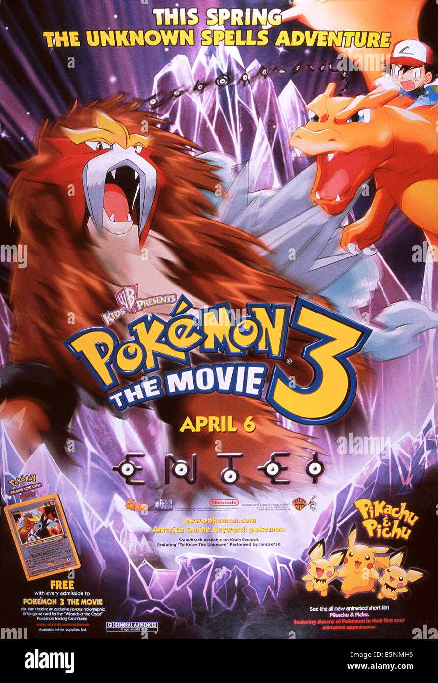 pokemon 3 the movie us poster 2000 169 warner brothers