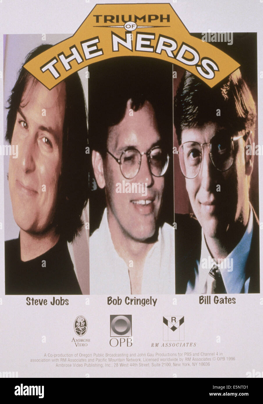 TRIUMPH OF THE NERDS, US Poster, From Left: Steve Jobs, Bob Cringely