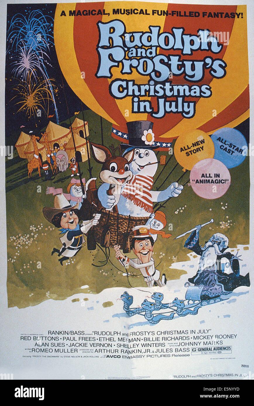 RUDOLPH AND FROSTY'S CHRISTMAS IN JULY, US poster, in basket from ...
