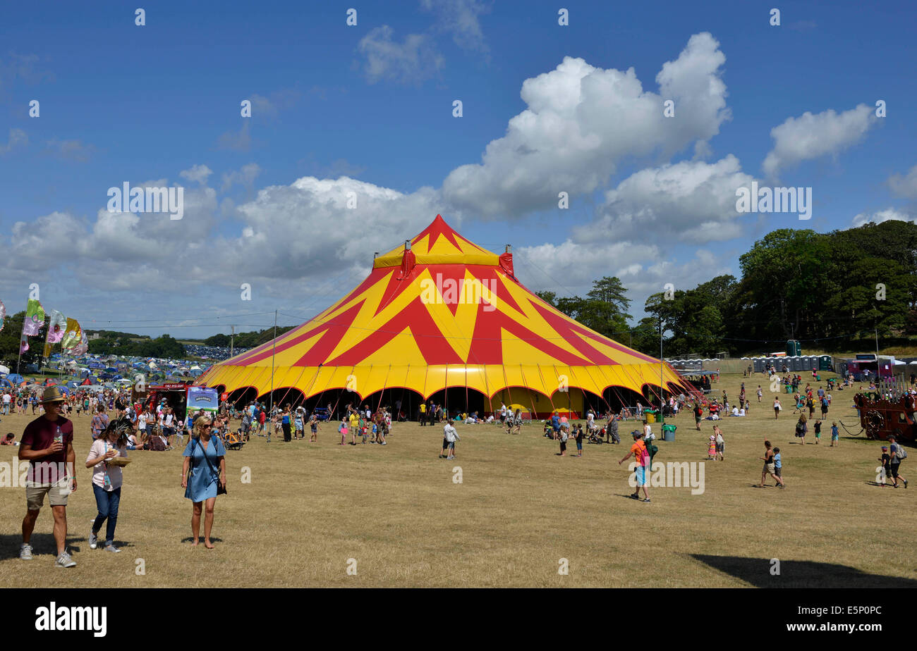 Big Top stage tent. C& Bestival music and arts family festival at Lulworth Castle Dorset  Britain. 3rd August 2014 Credit Dorset Media : big tent festival - memphite.com