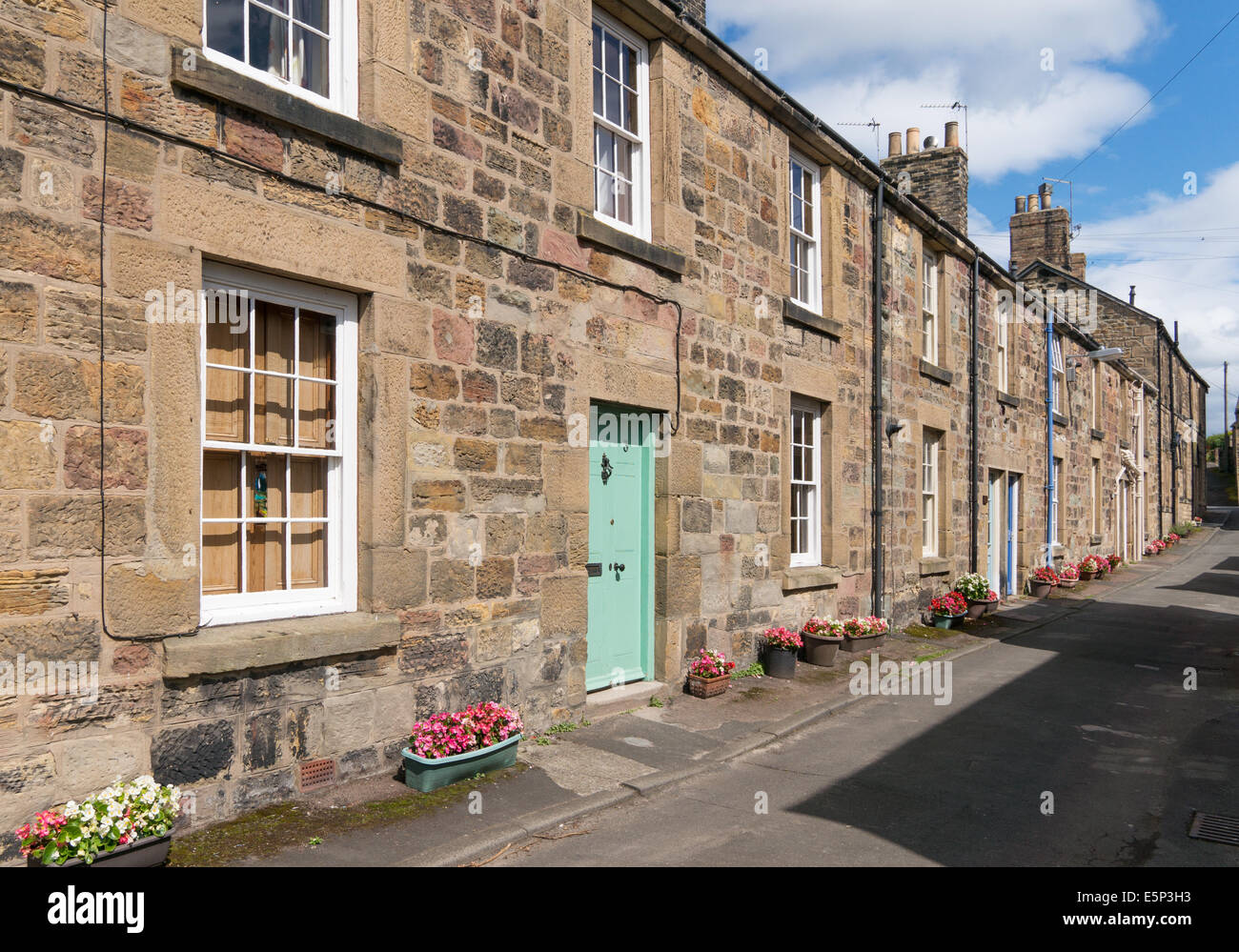 Street Of Stone Built Terraced Houses Alnmouth