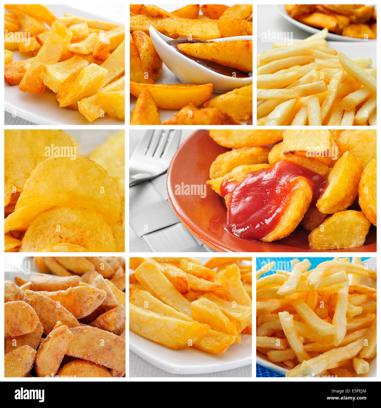 A Collage Of Some Pictures Of Different Types Of Fried
