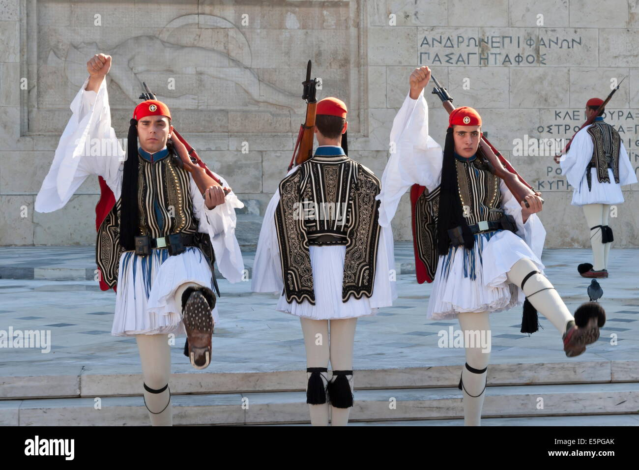 Evzone Soldiers, Changing The Guard, Syntagma Square ...