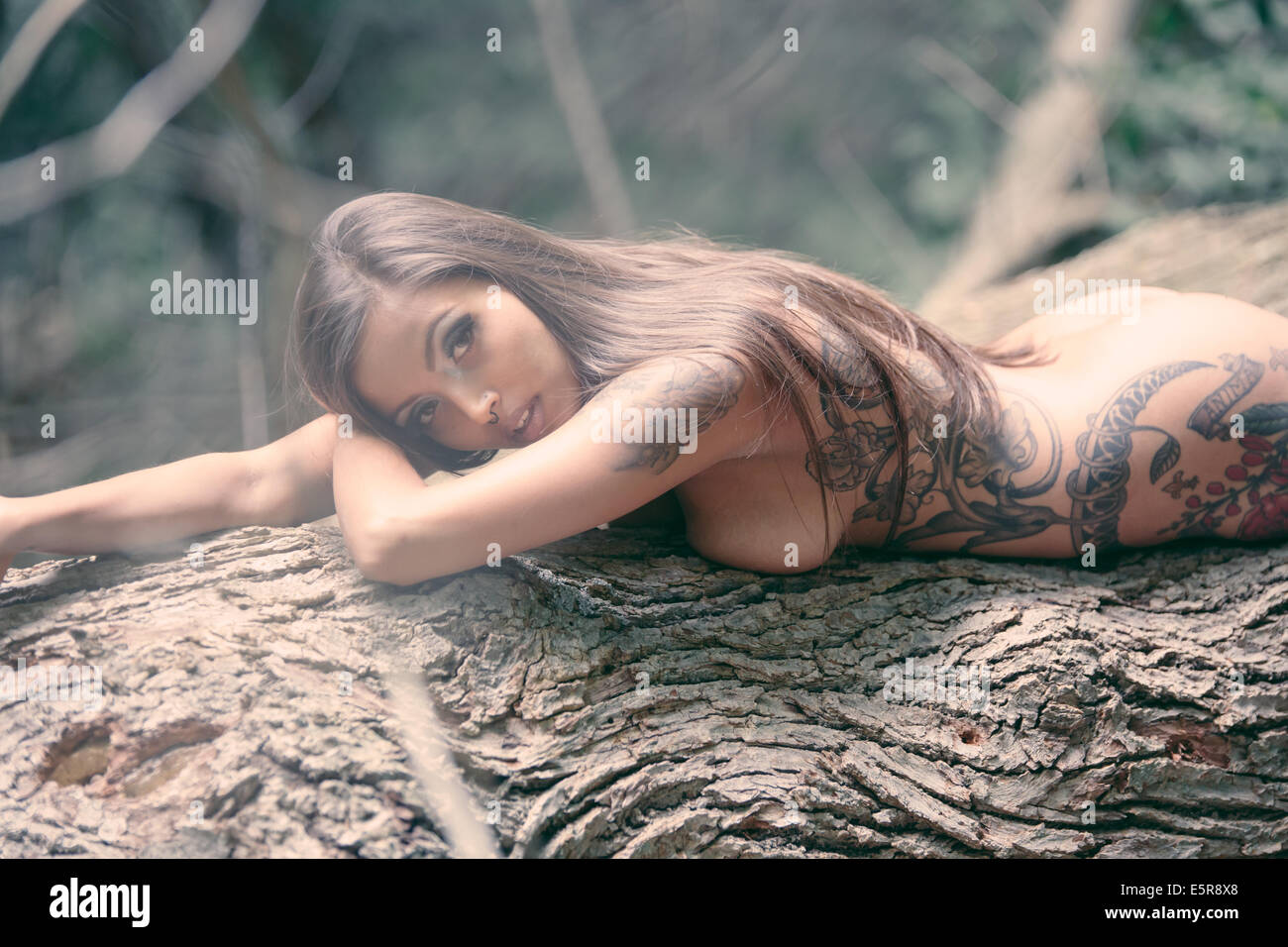 Sorry, dark tree naked woman
