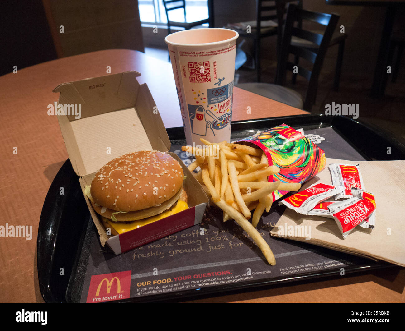 Macdonald fast food big mac meal combo stock photo - Fast good cuisine big mac ...