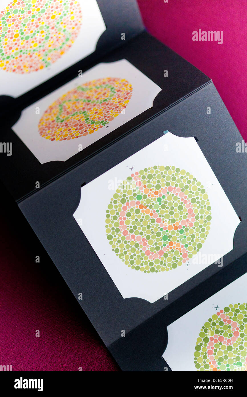 Book for color blindness - Ishihara Color Vision Test Plates Used For Color Blindness Screening Stock Image