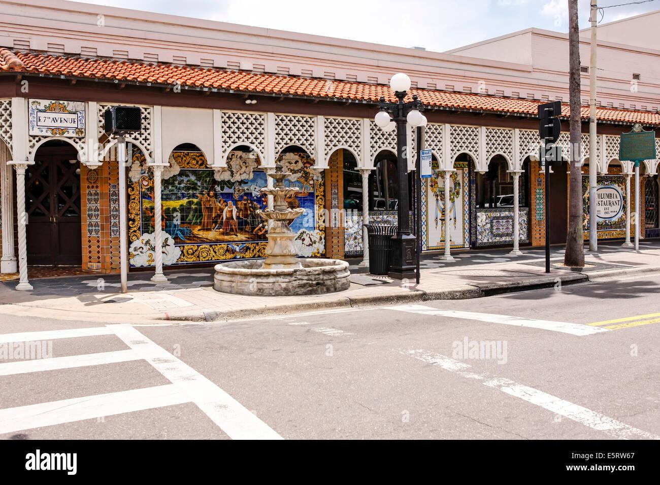 Spanish Influenced Architecture In Ybor City Tampa Florida