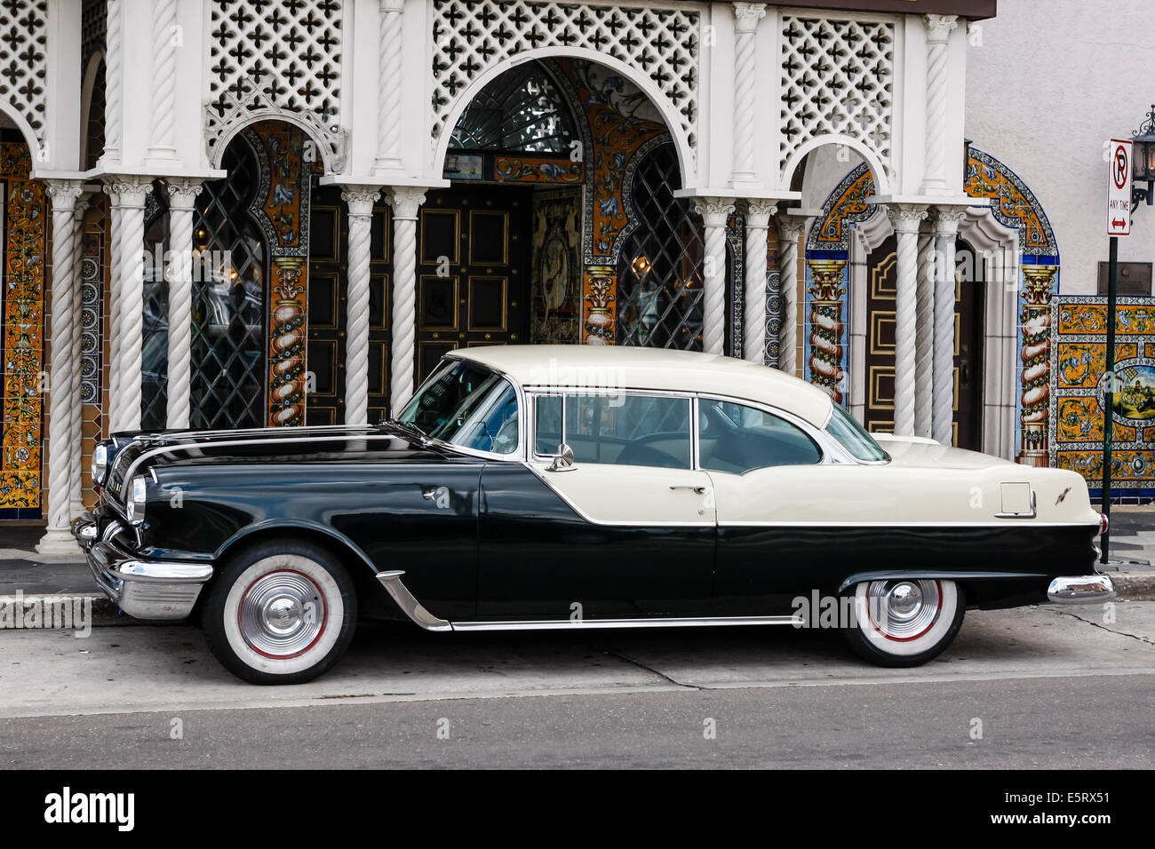 1950s Pontiac in downtown Ybor City Tampa FL Stock Photo: 72440173 ...