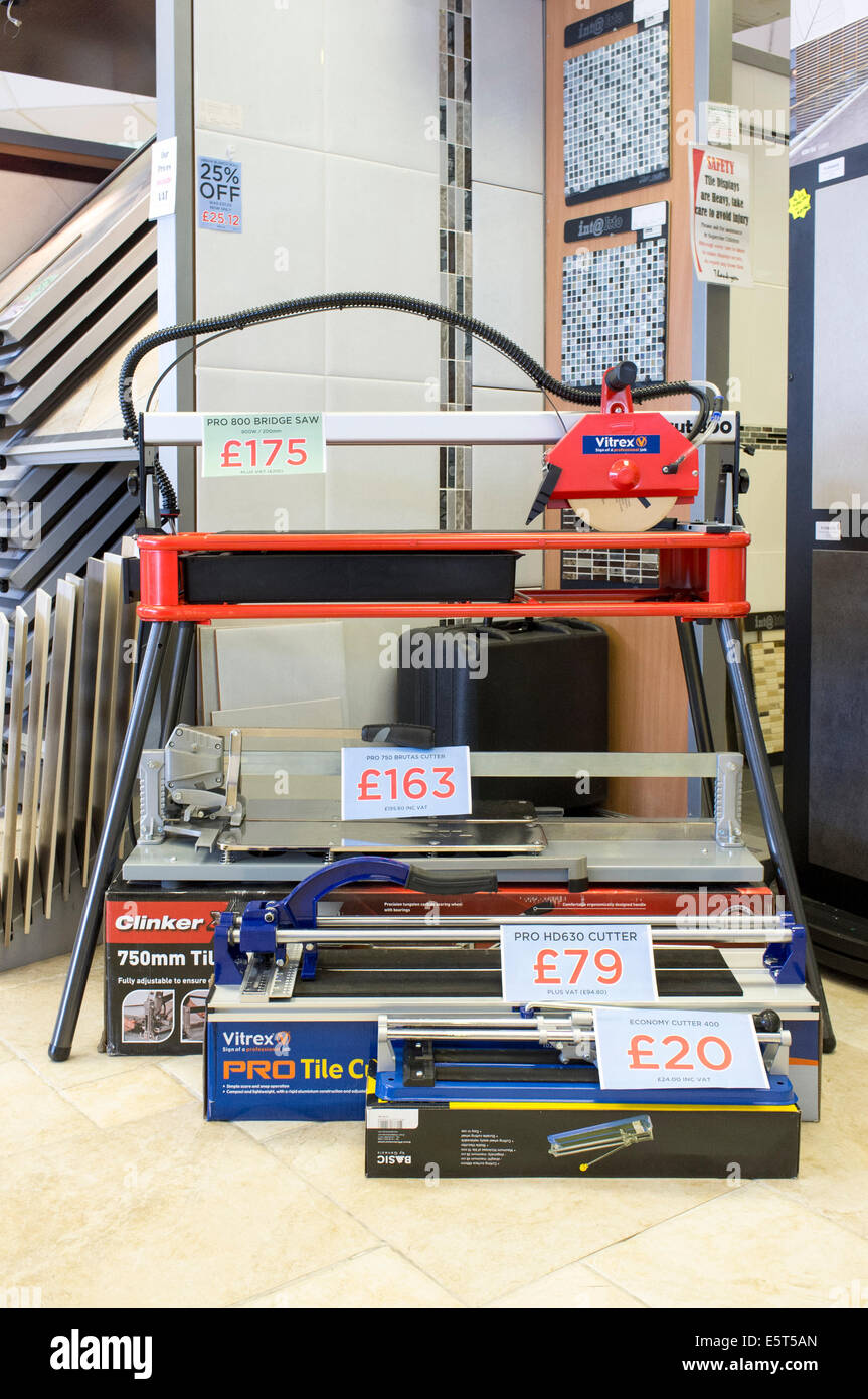 Display of ceramic tile cutters for sale in a uk tile shop stock display of ceramic tile cutters for sale in a uk tile shop dailygadgetfo Gallery
