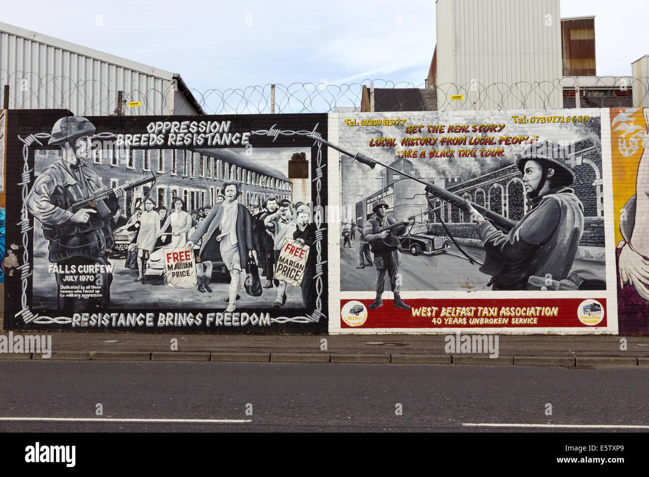 Political mural in belfast northern ireland falls road for Mural in belfast