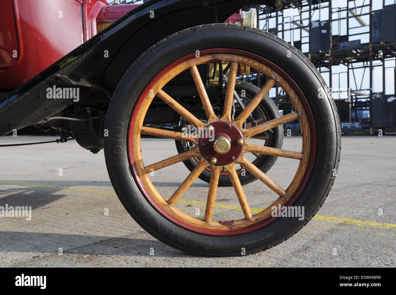 Ford model t vintage car early motoring wooden spoked wheel stock image
