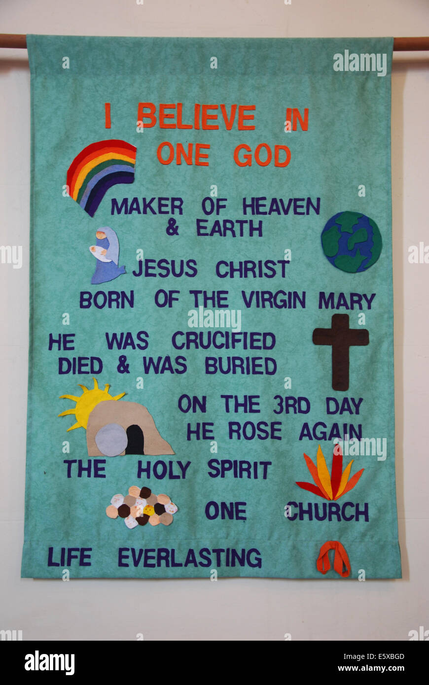 Cloth with religious message in somerton methodist church cloth with religious message in somerton methodist church somerset united kingdom biocorpaavc Choice Image