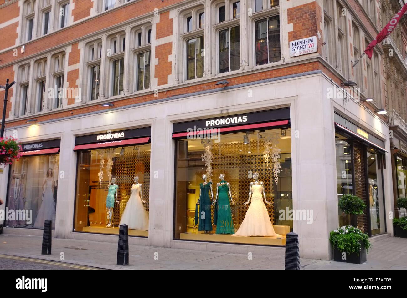 Pronovias wedding dress shop in london stock photo for Wedding dress shops in oklahoma city