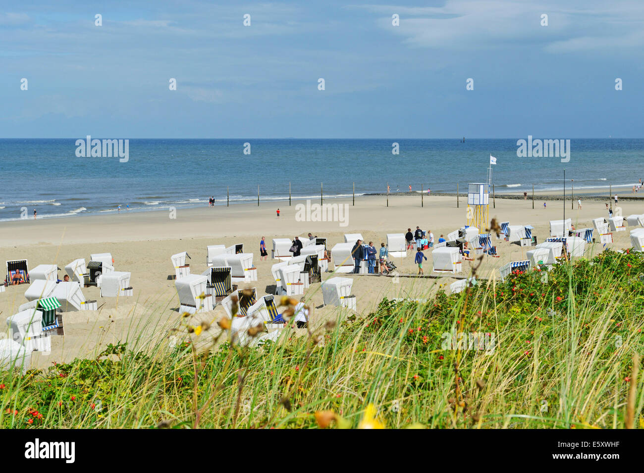 Best beach chair 2013 - Stock Photo Wangerooge S Beach With Beach Chairs And Swimming Zone 18 August 2013