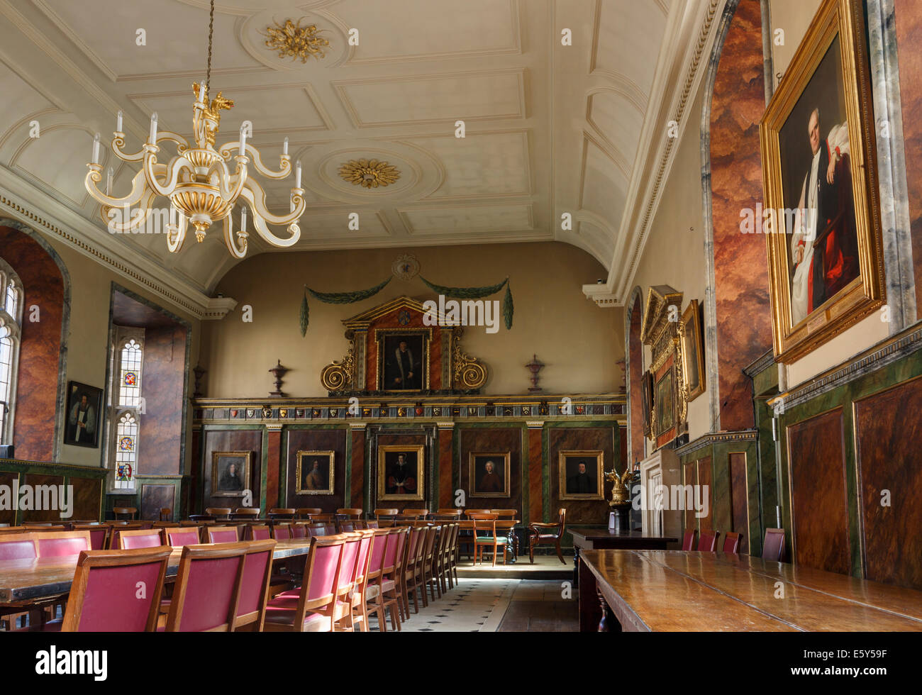 Interior Of Trinity College Hall Used As A Dining Room Oxford University Oxfordshire England United Kingdom Britain