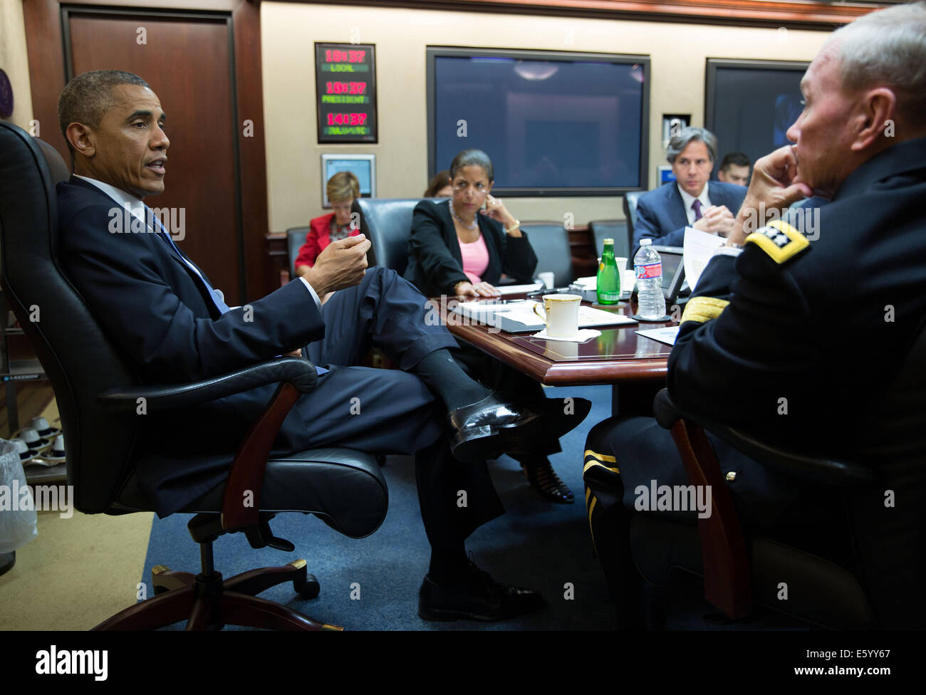 US President Barack Obama meets with the National Security Council ...