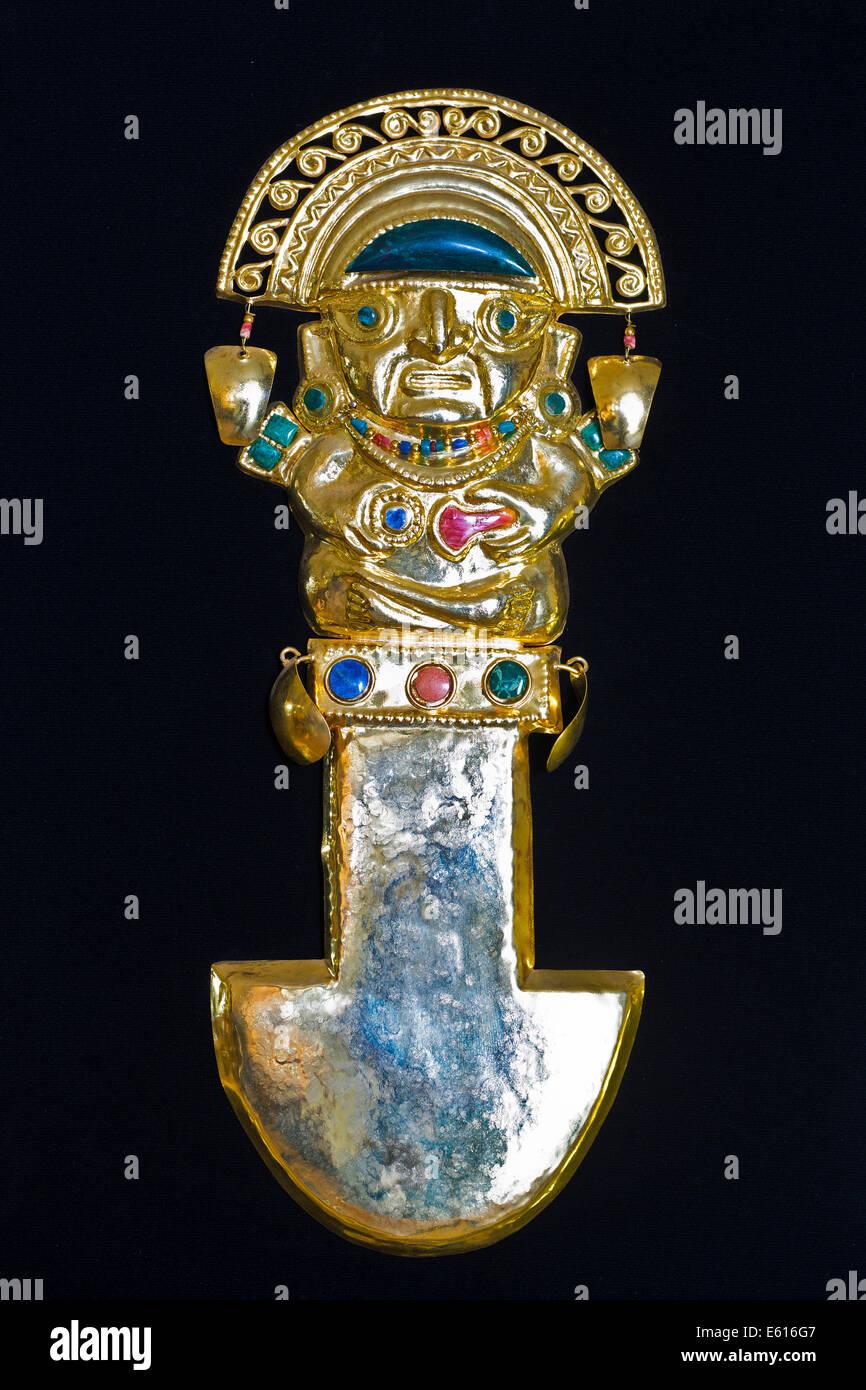 Gold with semi precious stones stock photos gold with semi golden pre columbian ritual knife or tumi replica sheet brass with semi buycottarizona