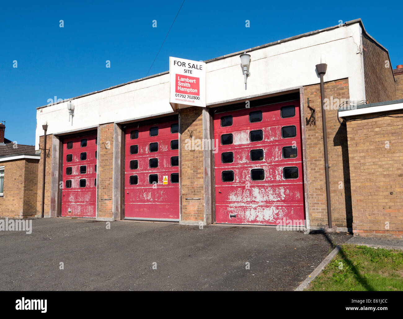Old closed fire station building now for sale in Llandrindod Wells ...