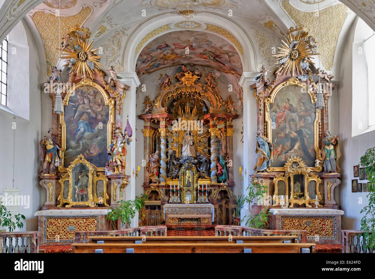 Rococo style monastery church kloster altenhohenau for Architecture rococo